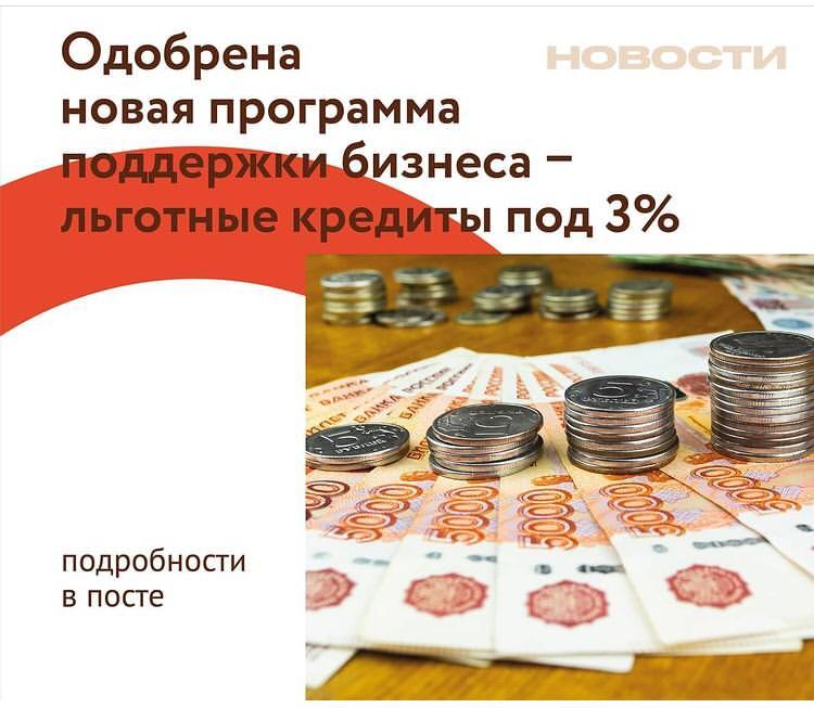 Президент России одобрил новый льготный кредит на восстановление предпринимательской деятельности